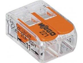 WAGO 221-412 svorka FLEXI s páčkou 2x 0,2 -4mm - 100ks