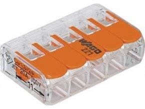 WAGO 221-415 svorka FLEXI s páčkou 5x 0,2 -4mm - 25ks