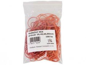 gumičky mix 20,40,60,80mm (100ks)