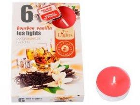 svíčka čajová vonná BOURBON VANILKA (6ks) (hoří 6x3-4hod)