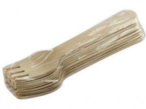 vidlička dřevěná 16cm (10ks) jednorázová