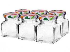 sklenice zavařovací 155ml + víčka barev. 55 (6ks)