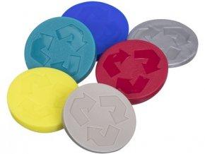 symboly recyklační na odp.koš REC PH mix barev (6ks)
