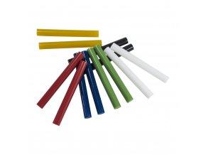 Tavné lepící tyčinky 7,2x100mm, 12ks barevné