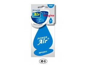 POWER Air - papírový osvěžovač vzduchu IMAGINE CLASSIC Sport