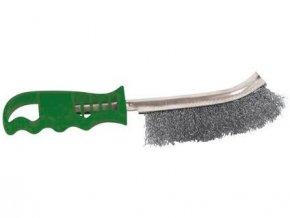 kartáč ruční jednořadý NEREZ, zelená plast.rukojeť