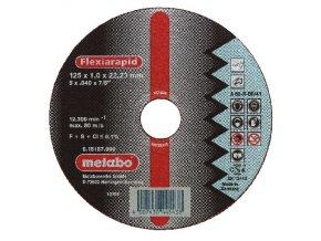 METABO - řezný kotouč - nerez - FLEXIRAPID 125x1,0x22,2mm rovný…