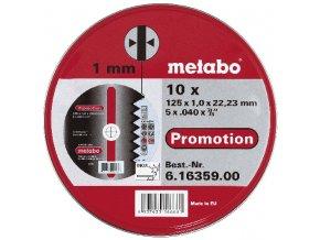METABO - sada 10 ks kotoučů Promotion 125x1,0mm na nerez