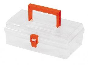 """TOOD - Plastový kufr 10"""" 250x150x90mm - transparentní"""