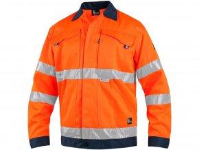 Blůza CXS NORWICH, výstražná, pánská, oranžovo-modrá