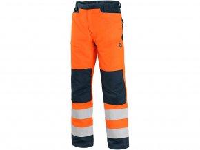 Kalhoty CXS HALIFAX, výstražné se síťovinou, pánské, oranžovo-modré