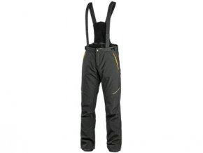 Kalhoty CXS TRENTON, zimní softshell, pánské, černé s HV žluto/oranžovými doplňky