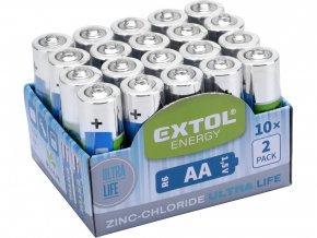 baterie zink-chloridové, 20ks, 1,5V AA (R6)