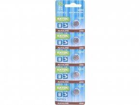 baterie alkalické, 5ks, 1,5V (LR44)