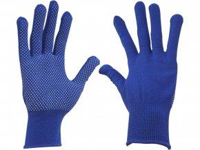 """rukavice z polyesteru s PVC terčíky na dlani, velikost 8"""""""