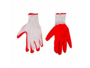 """rukavice pogumovaná bavlnená tkanina červené 9 \"""" TopTools"""