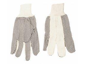 """rukavice pracovní bavlnený úplet, kaučuk, 10 \"""" Topex"""