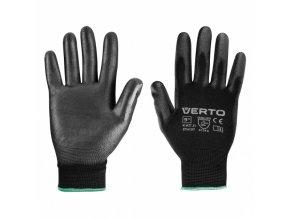 "rukavice zahradní, PU povlak, velikost 9\"" Verto"