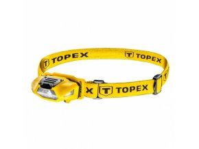 čelovka 100Lm, bílá + červená, stavitelná, ochrana proti dešti, 36g, 3xAAA(není součástí) Topex