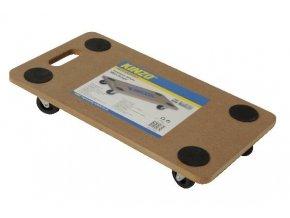 Univerzální vozík 290x590 mm polyamid. kolo pr. 75mm, nosnost 200kg