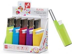 zapalovač ELFIN 12cm plamínkový, mix barev