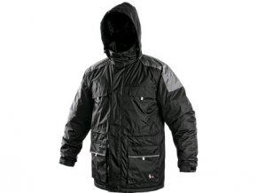 Pánská zimní bunda FREMONT, černo-šedá