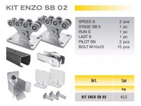 707 cais kit enzo sb 02 sada pro samonosnou branu do 4 5m prujezdu
