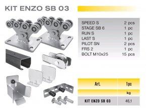 821 cais kit enzo sb 03 sada pro samonosnou branu do 4 5m prujezdu