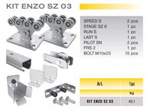 824 cais kit enzo sz 03 sada pro samonosnou branu do 4 5m prujezdu