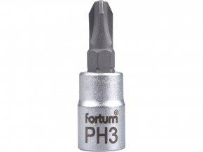 """hlavice zástrčná 1/4"""" hrot křížový, PH 3, L 37mm"""