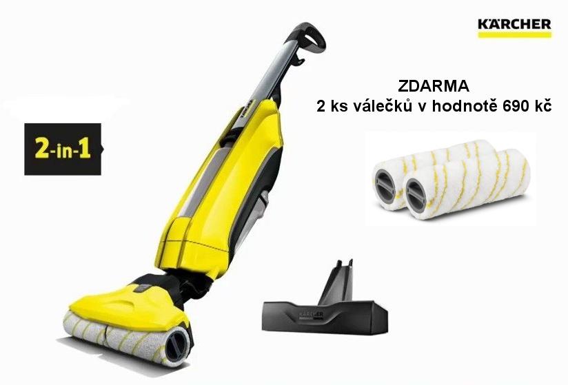 Kärcher podlahový mycí stroj FC 5 Premium 1.055-530 + ZDARMA 2 ks náhradních válečků v ceně 690 kč
