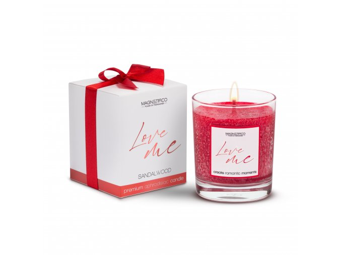 afrodiziakální svíčka Love me Sandalwood 3