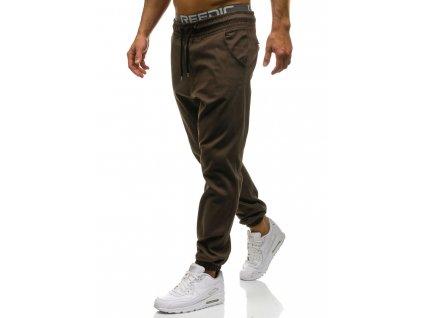 cze pl Hnede panske baggy kalhoty Bolf 0399 60216 3