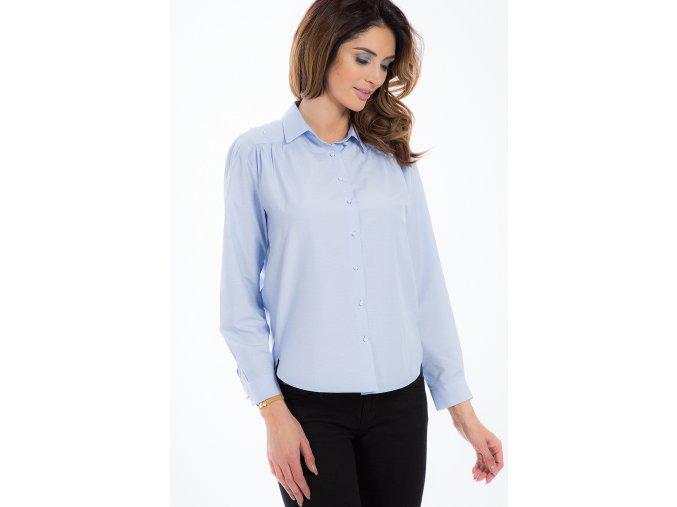 Světle modrá košile s perličkami 21337 (Velikost L)