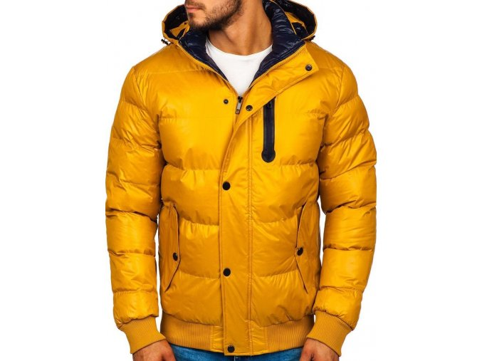 Pánská bunda zimní, žlutá P5839