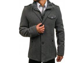 Kabát zimní šedý 8853 (Velikost XXL)