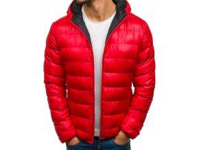 Zimní bunda červená 4001 (Velikost XXL)