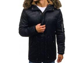 Zimní pánská bunda tmavě modrá R52 (Velikost XXL)