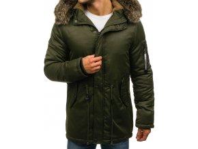 Zimní pánská bunda zelená R52 (Velikost XXL)