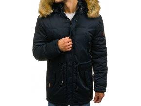 Zimní pánská bunda tmavě modrá R53 (Velikost XXL)