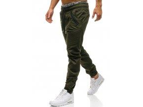 pol pl Spodnie meskie dresowe joggery khaki Denley 0952 61478 1