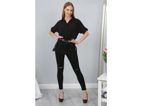Černá košile 98760 (Velikost XL)