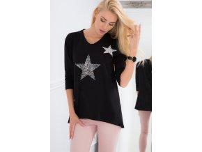 Černá tunika s hvězdami 3329 (Velikost M)