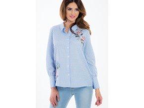 Modré košile s výšivkou 21275 (Velikost M)