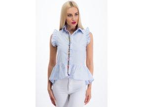 Světlá modrá košile s flounces 2000 (Velikost XL)