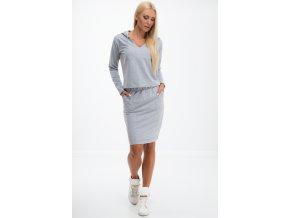 Světle šedá mikina a sukně 1359 (Velikost M)