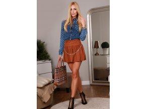 Mini karamelová sukně 9784 (Velikost L)