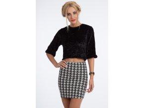Černo-smetanová sukně BB10339 (Velikost L)