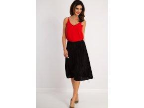 Černá skládaná sukně 20961 (Velikost L)