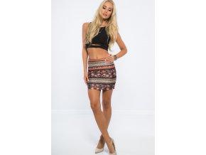 Vícebarevná sukně Fullprint 20205 (Velikost L)